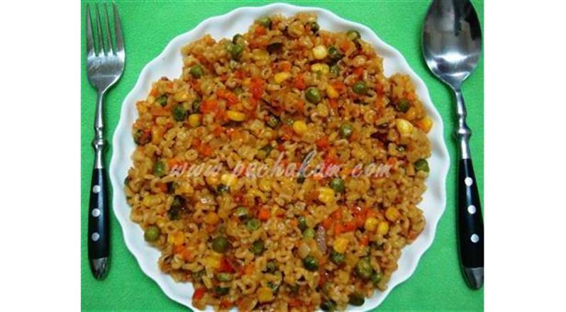 Veg Pasta Indian Chinese Style Recipe Pachakam Com