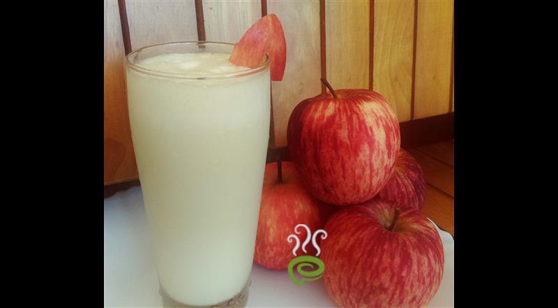 Vanilla Ice Cream Apple Milk Shake