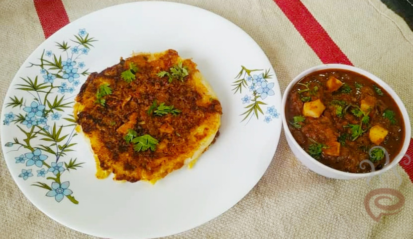 Madurai Kari Dosa with Kheema Curry
