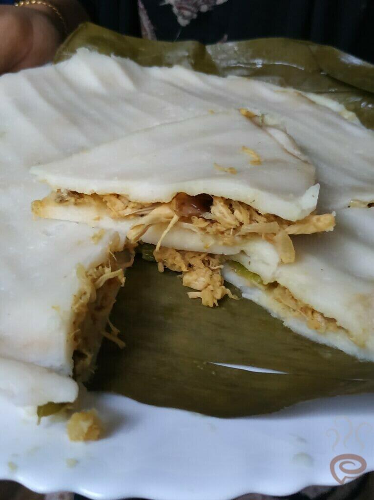 Steamed Chicken Pathiri | Kozhi Pathiri