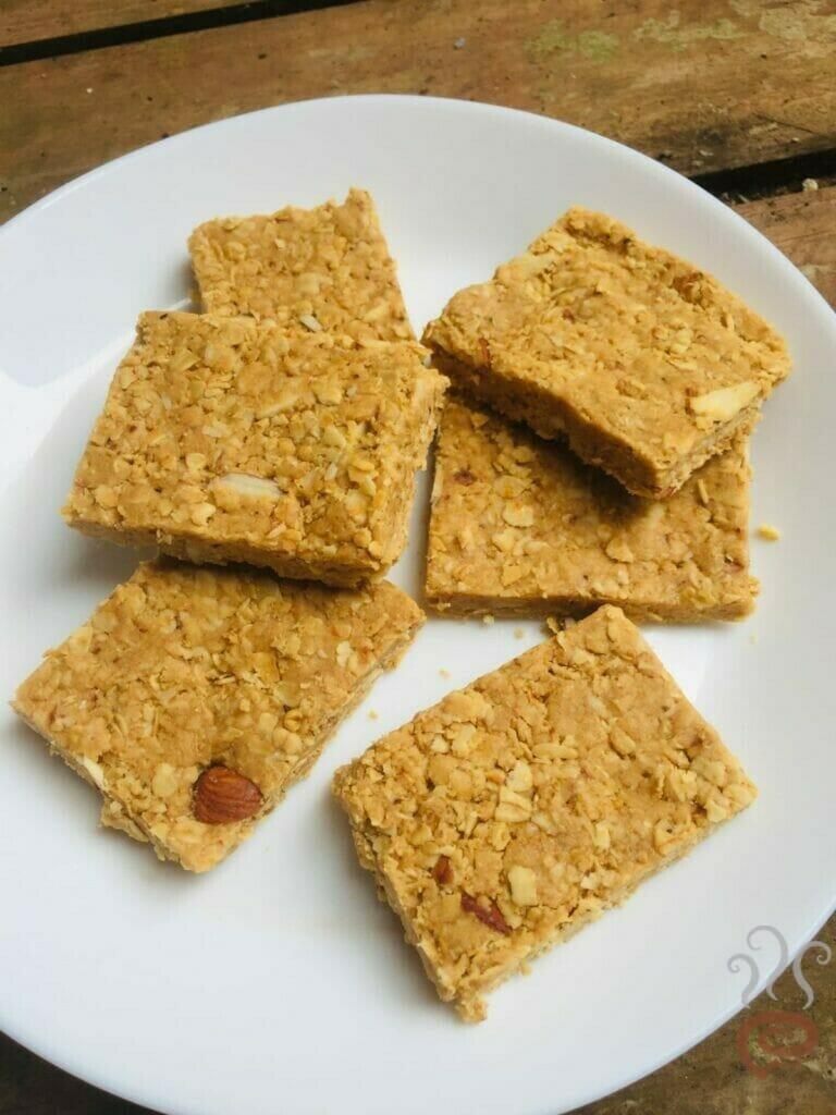Oats Peanut Butter Bar | Healthy Peanut Butter Bars