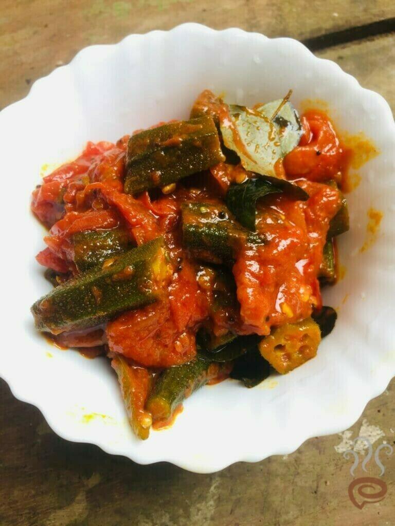 Vendakka Vattichathu | Hot Ladies Finger Curry